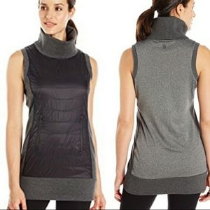 MPG trimex quilted turtleneck sleeveless top